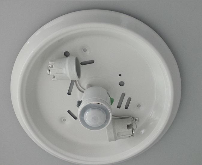 Plafoniere Ieftine : Plafonieră cu senzor de mișcare 360 grade 2 x 40 w marcofil.ro